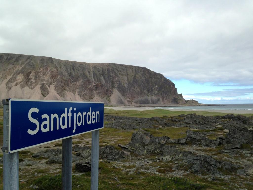 Sandfjorden, beachwalker